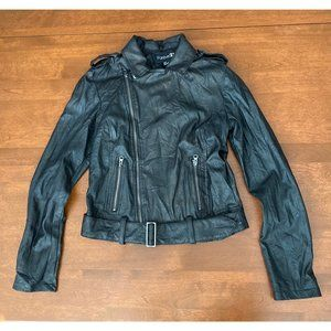 Forever 21 Faux Leather Jacket Black size Small